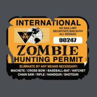 Zombie Hunting Permit - Adult Fan Favorite T Design