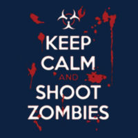 Keep Calm and Shoot - Ladies V-Neck T Design