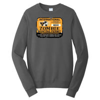Zombie Hunting Permit - Adult Fan Favorite Crew Sweatshirt Thumbnail