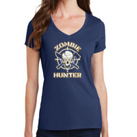 Zombie Hunter - Ladies V-Neck T Thumbnail